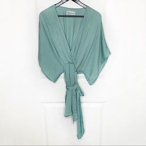 Urban Outfitters Wrap Dress Wide Sleeve Top